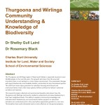 Thurgoona and Wirlinga Community Understanding & Knowledge of Biodiversity_Laird&Black_2013